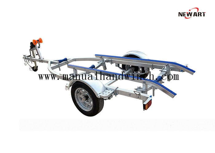 Galvanized Single Axle Aluminum Sailboat Trailer With Rubber Slider 1800mm Bunk