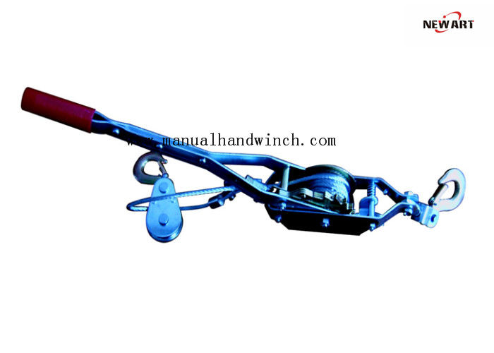 2 Ton Heavy Duty Cable Puller , Single Gear Double Hooks Hand Winch Puller