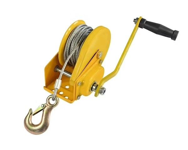 1200 lb Braking Hand Anchor Winch / Hand Winch with Friction Brake For Electrical Tower